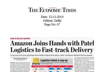 Logistics Sector in India News | Media Advertisements
